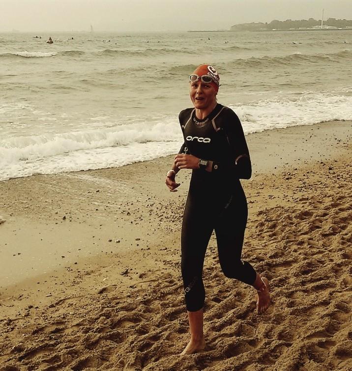 Weymouth Half Ironman... rough sea swim